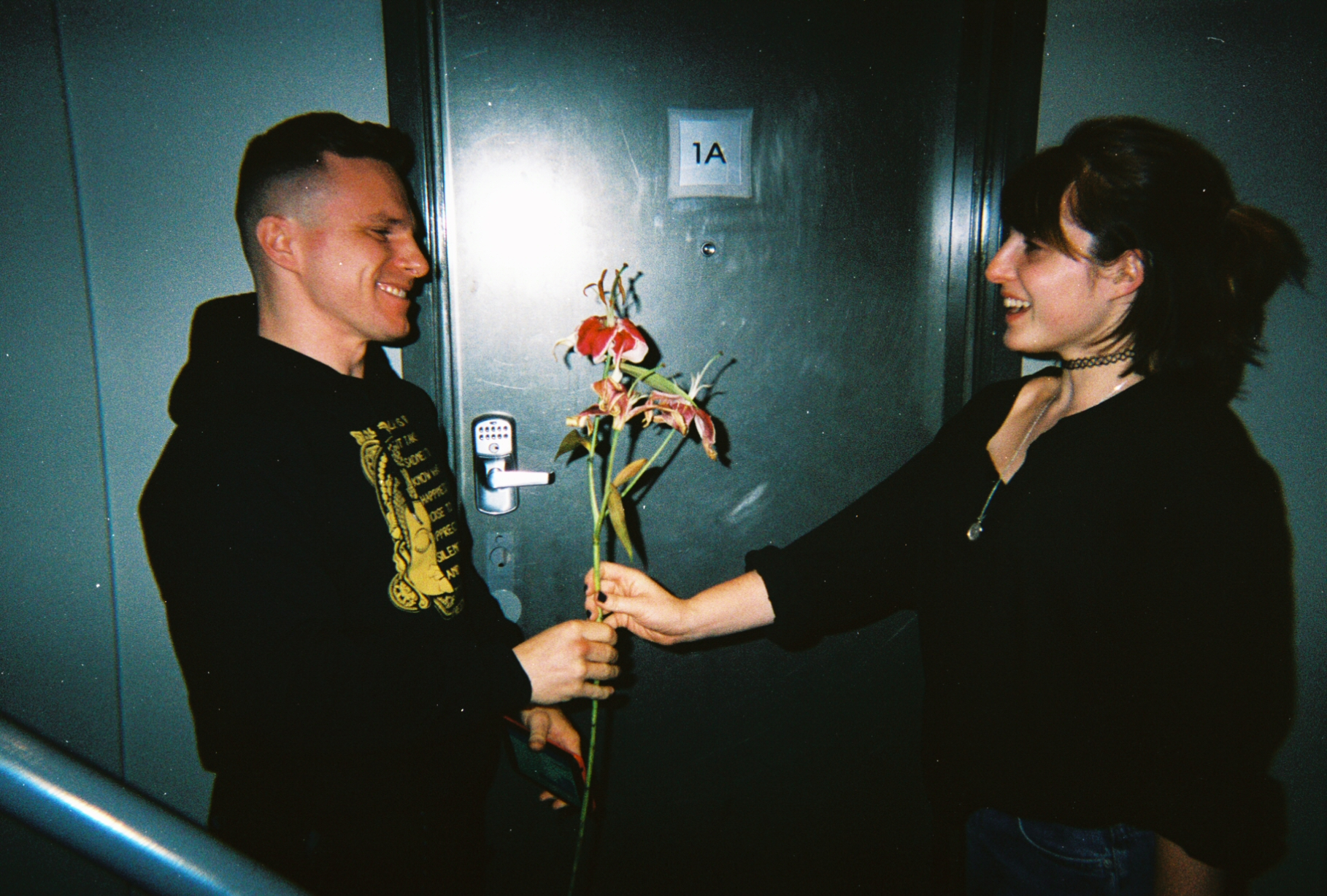 Flower gift to the first stranger