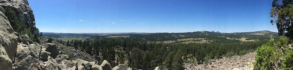 The panoramic view after making it to the top of the free-climb limit.