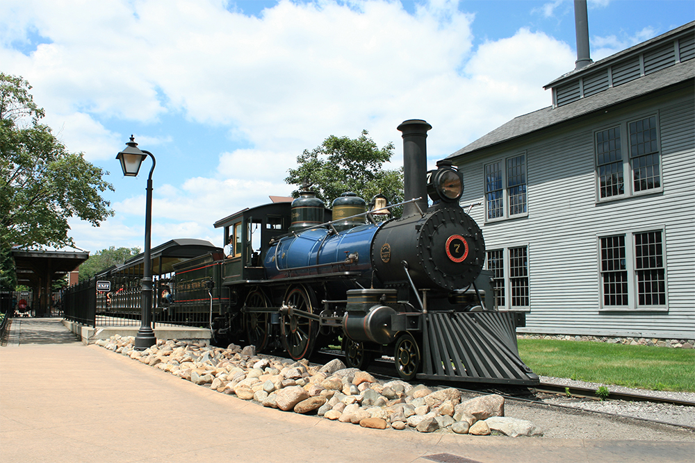 Greenfield Village's full-size steam train.
