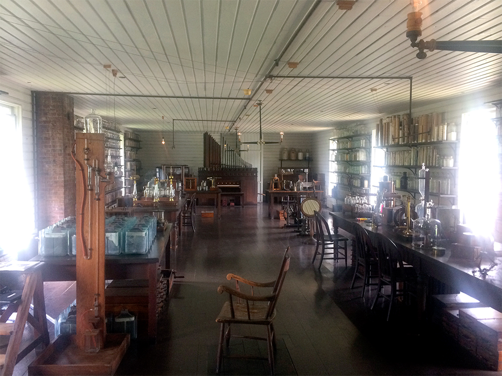 Replica of Edison's Menlo Park laboratory.