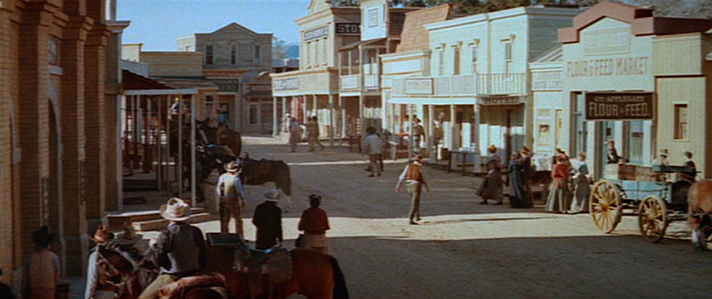 The western town in the original 1973 film.