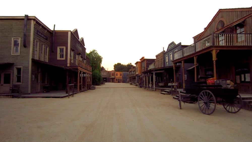 The town set at Melody Ranch.