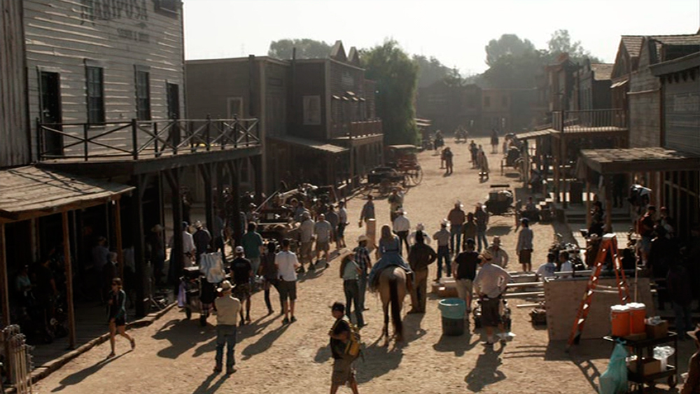 Shooting the first season of  Westworld .