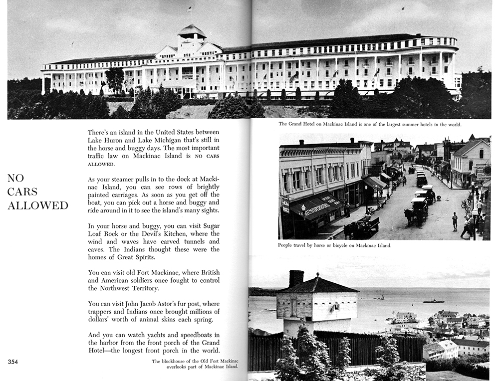 Mackinac Island spread in  Places to Know .