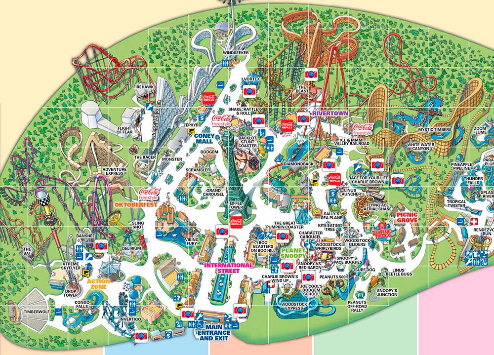 Kings Island 2017 park map.