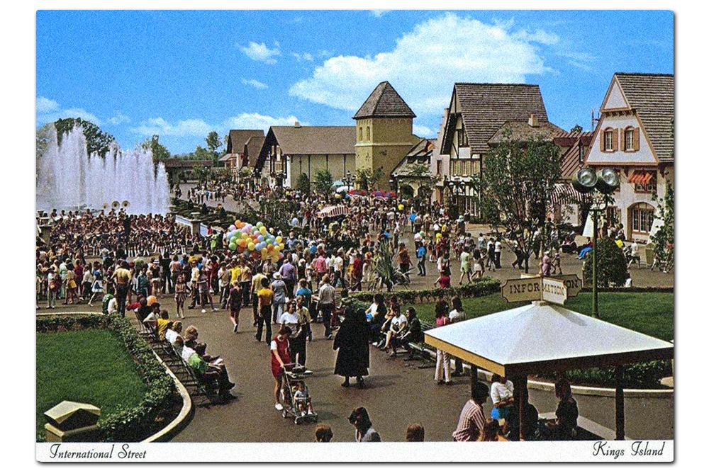 Vintage postcard,  International Street .