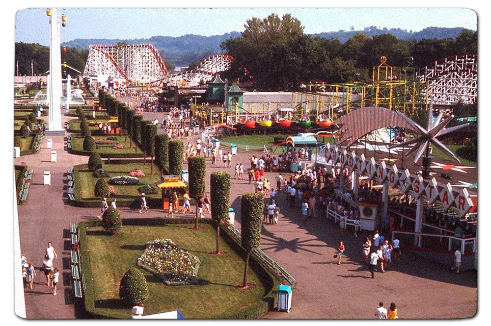 Vintage postcard, Cincinnati's Coney Island, mid-to-late sixties.