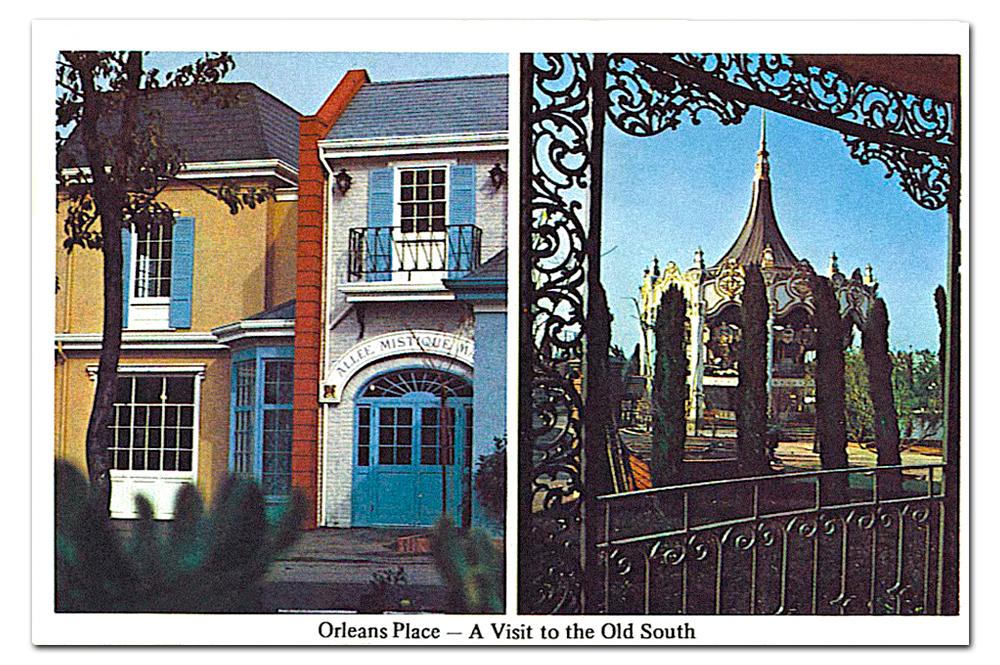 Vintage postcard,  Orleans Place .