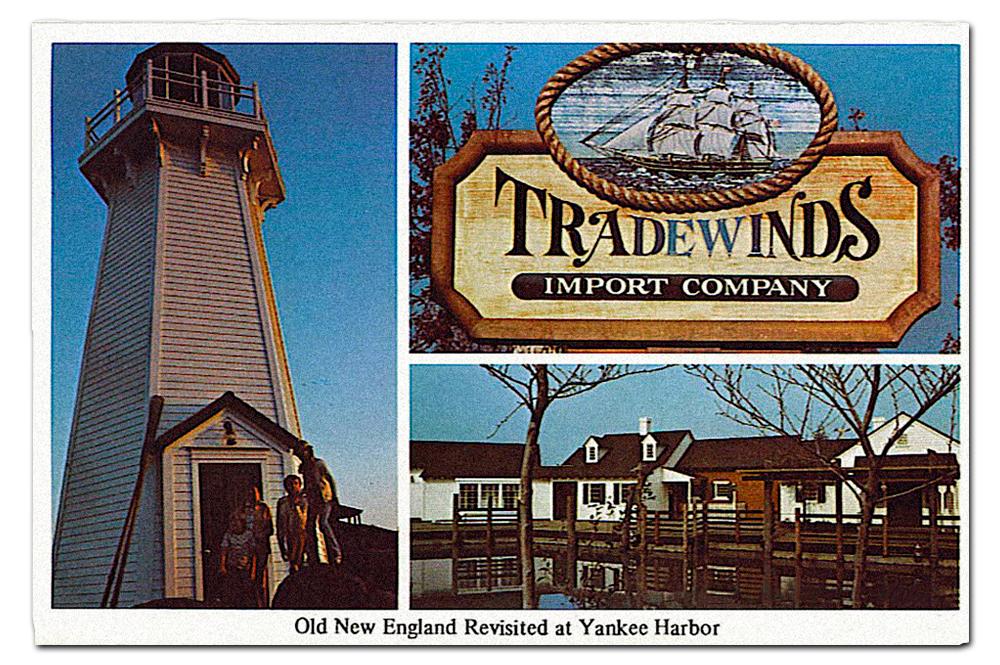 Vintage postcard,  Yankee Harbor .