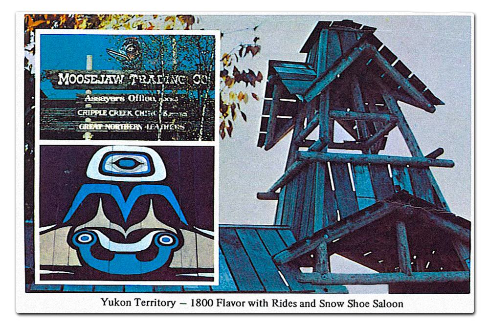 Vintage postcard,  Yukon Territory .