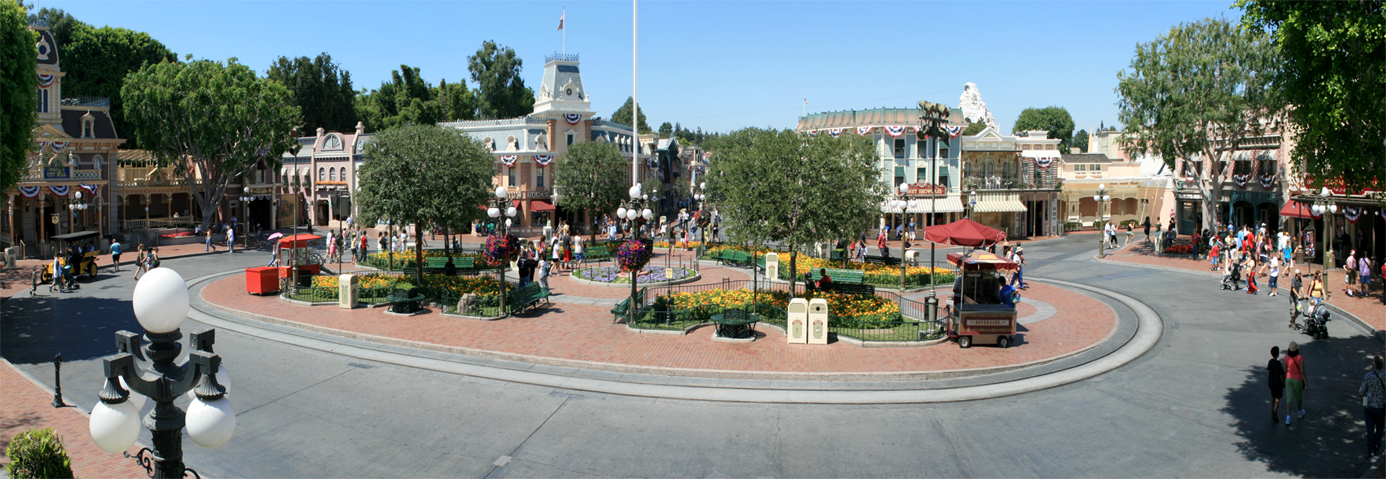Town Square, Disneyland, 2007.