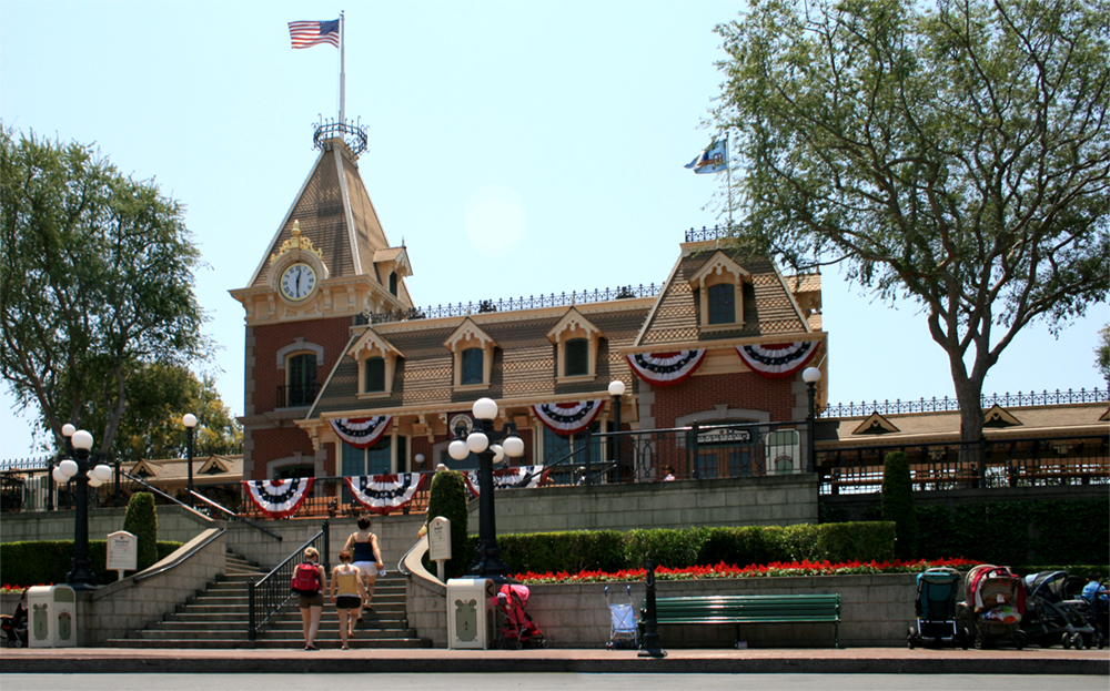 Disneyland's Main Street Station, 2007.