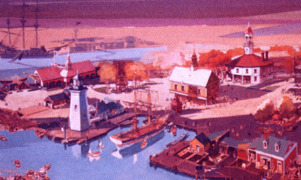 Concept painting of the Yankee Harbor area.