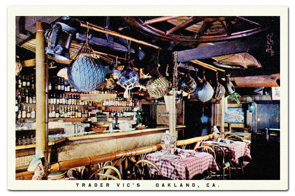 Vintage postcard, Trader Vic's.