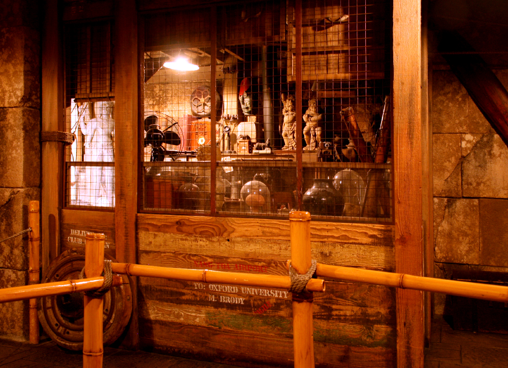 Prop cage in queue for the Indiana Jones Adventure at Disneyland, 2007.