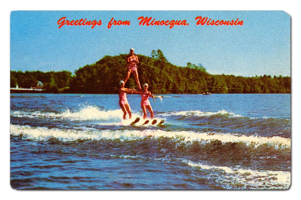 Vintage postcard, The Min-Aqua Bats.