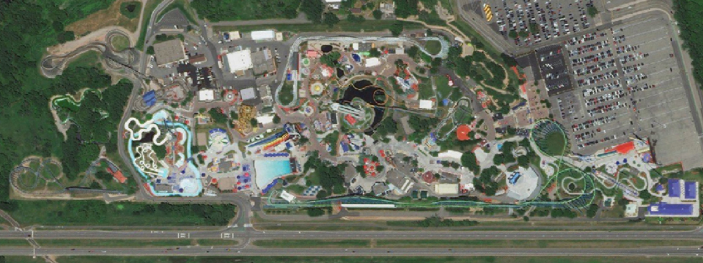 Valleyfair, satellite view. Click for Google Map link.