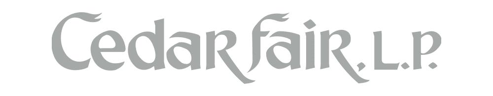 Cedar Fair original wordmark.