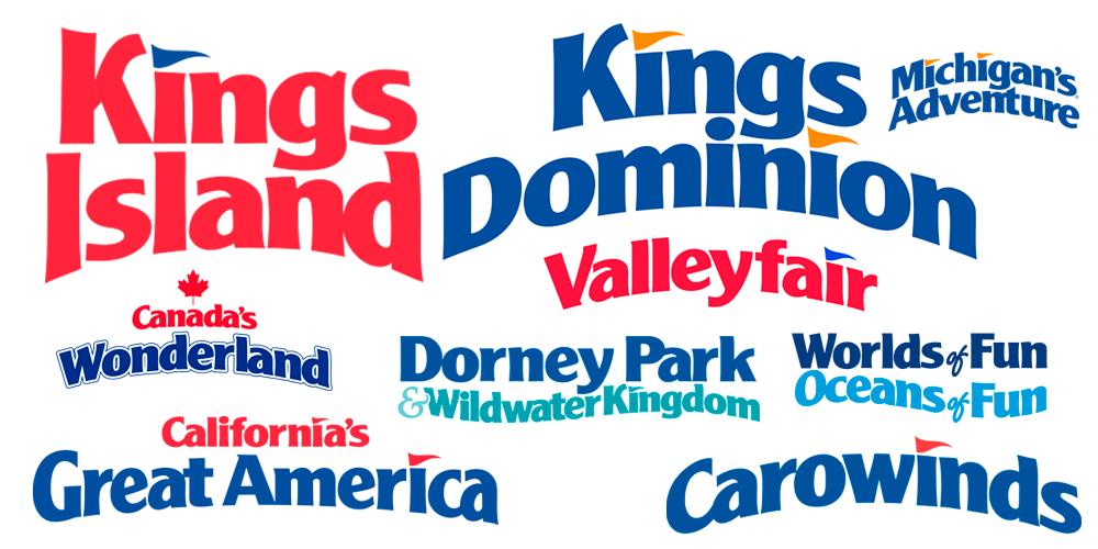 Examples from the Cedar Fair parks wordmark system.