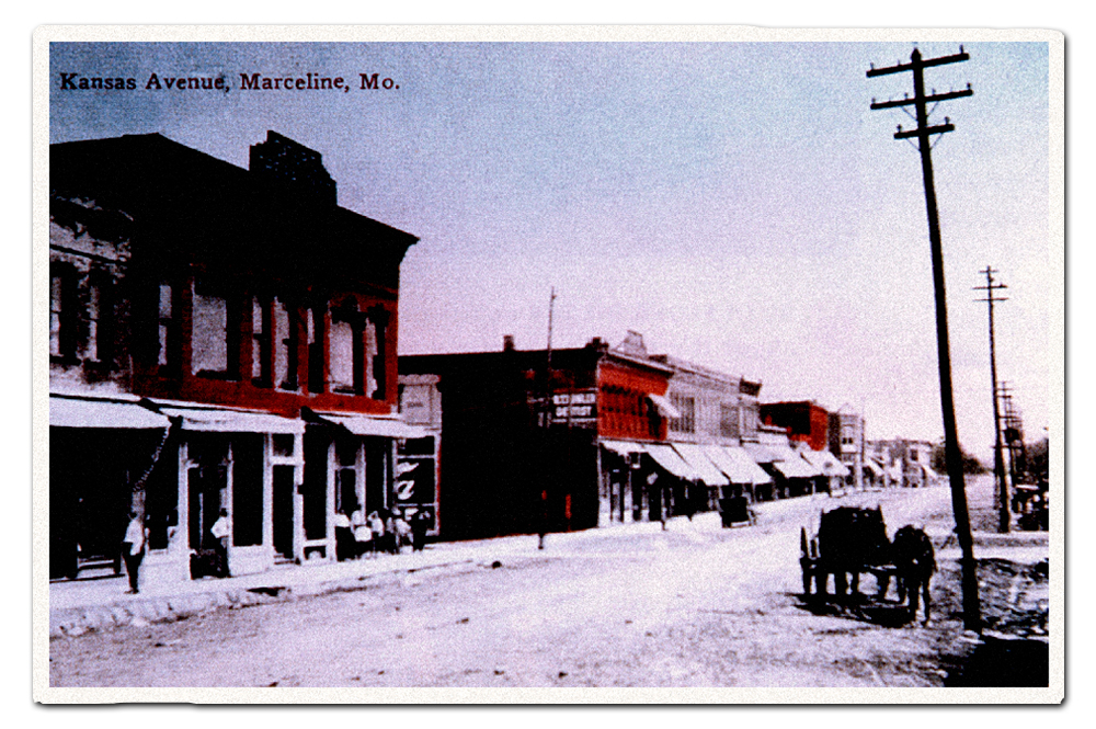 Vintage postcard, Kansas Avenue.