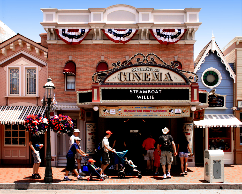 The Main Street Cinema at Disneyland, 2007.