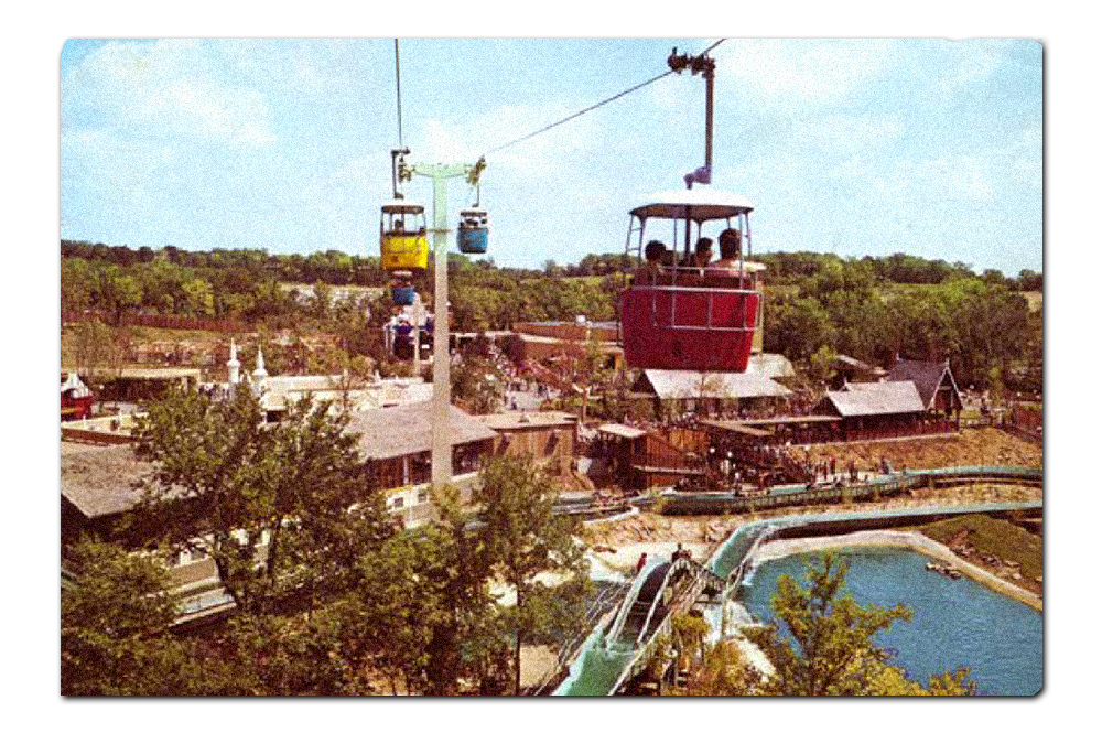 Vintage postcard,  Sky Hi (Ski Heis)  headed towards  Scandinavia  (1973–1987).