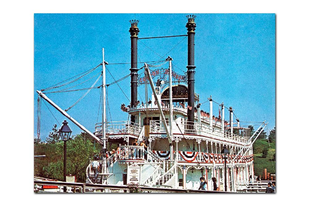 Vintage postcard,  Cotton Blossom  (1973–1995) .