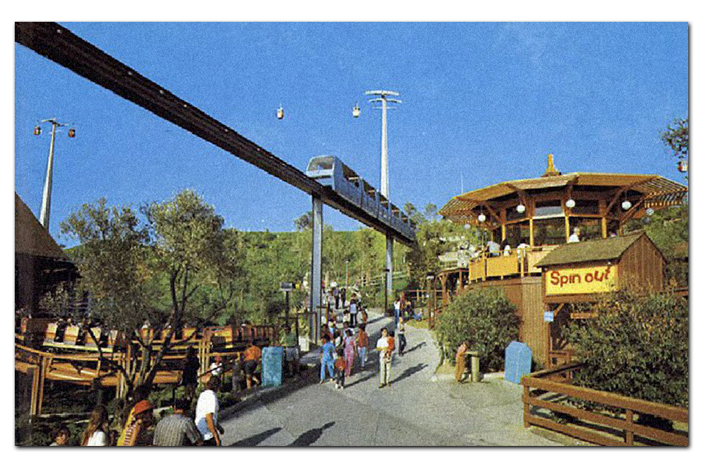 Vintage postcard,  Spin Out , Six Flags Magic Mountain.