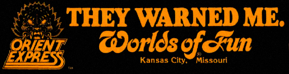 Vintage Worlds of Fun bumper sticker.