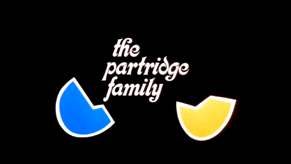 The Partridge Family  opening title card, 1970.