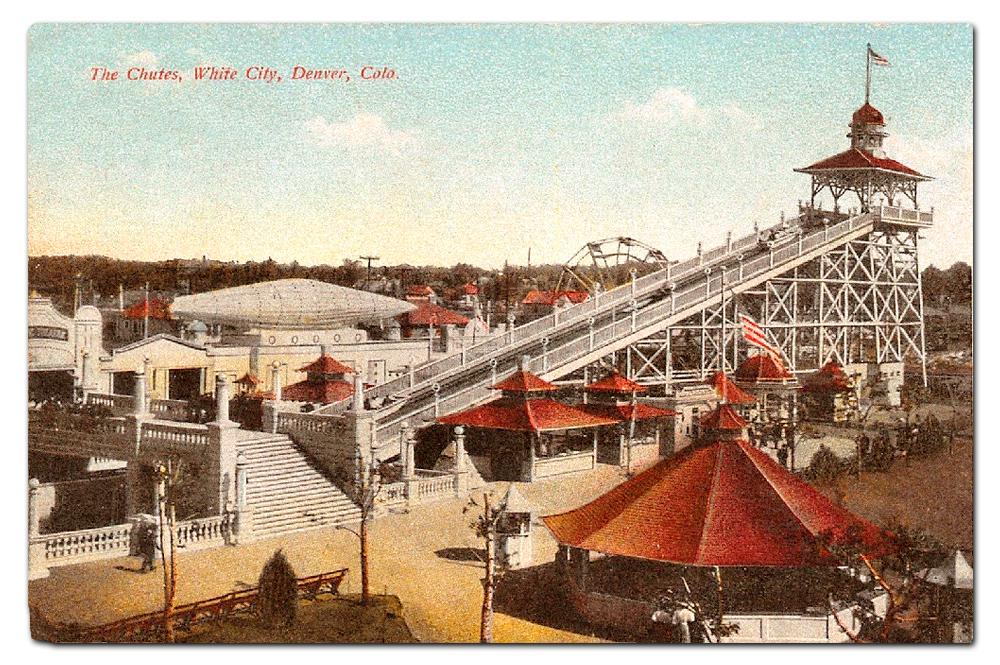 Vintage postcard,  The Chutes .