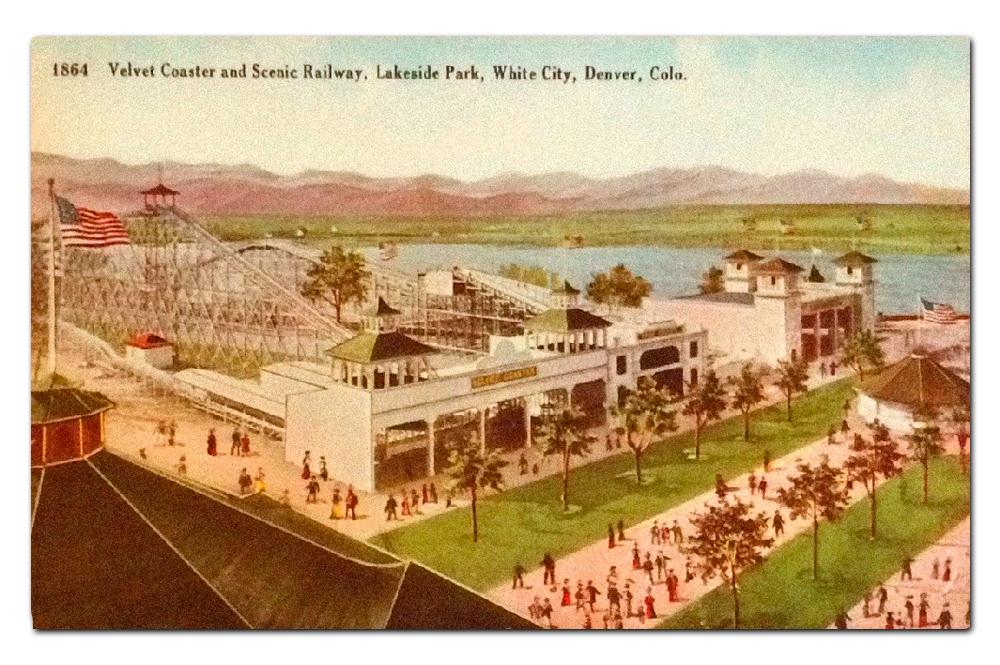 Vintage postcard, Lakeside Park.