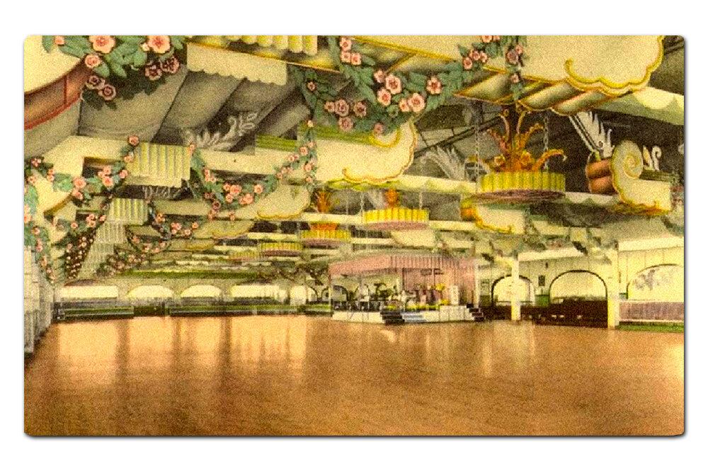 Vintage postcard,  Trocadero Ballroom .
