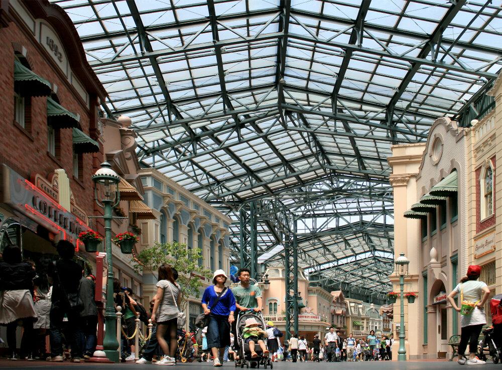 World Bazaar  at Tokyo Disneyland, 2008.