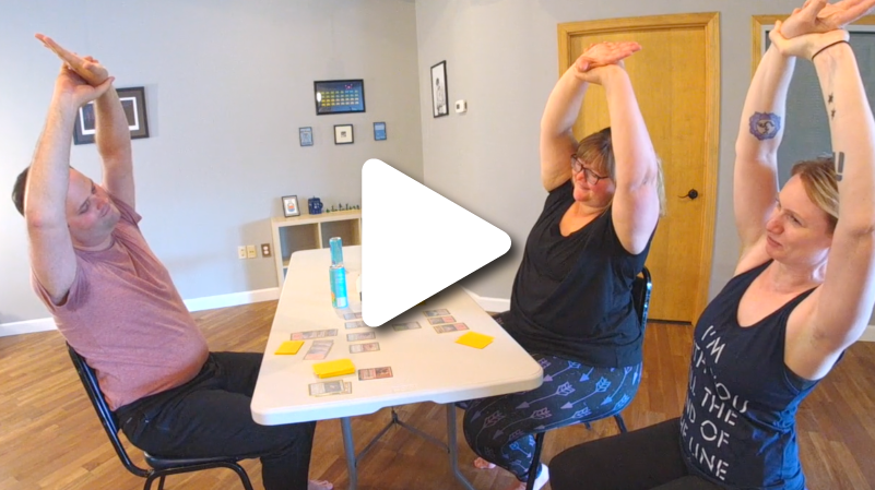 Mini Mission: Gamer Break - Take a break from your favorite game with this quick seated yoga practice led my Justine, Ani and Steve. 6 minutes.
