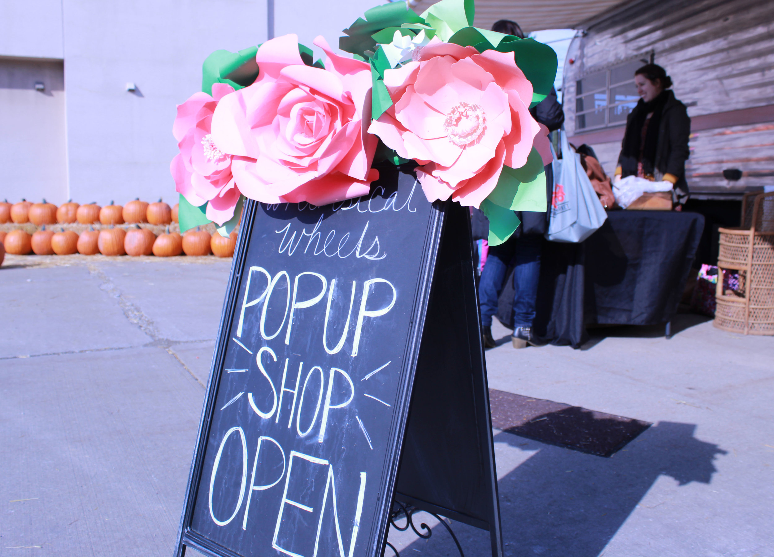 Pop up mini store. One of the many vendors at Harvest days had a actual trailer set up. She had plenty from sweet smelling candles to unique looking shot glasses.