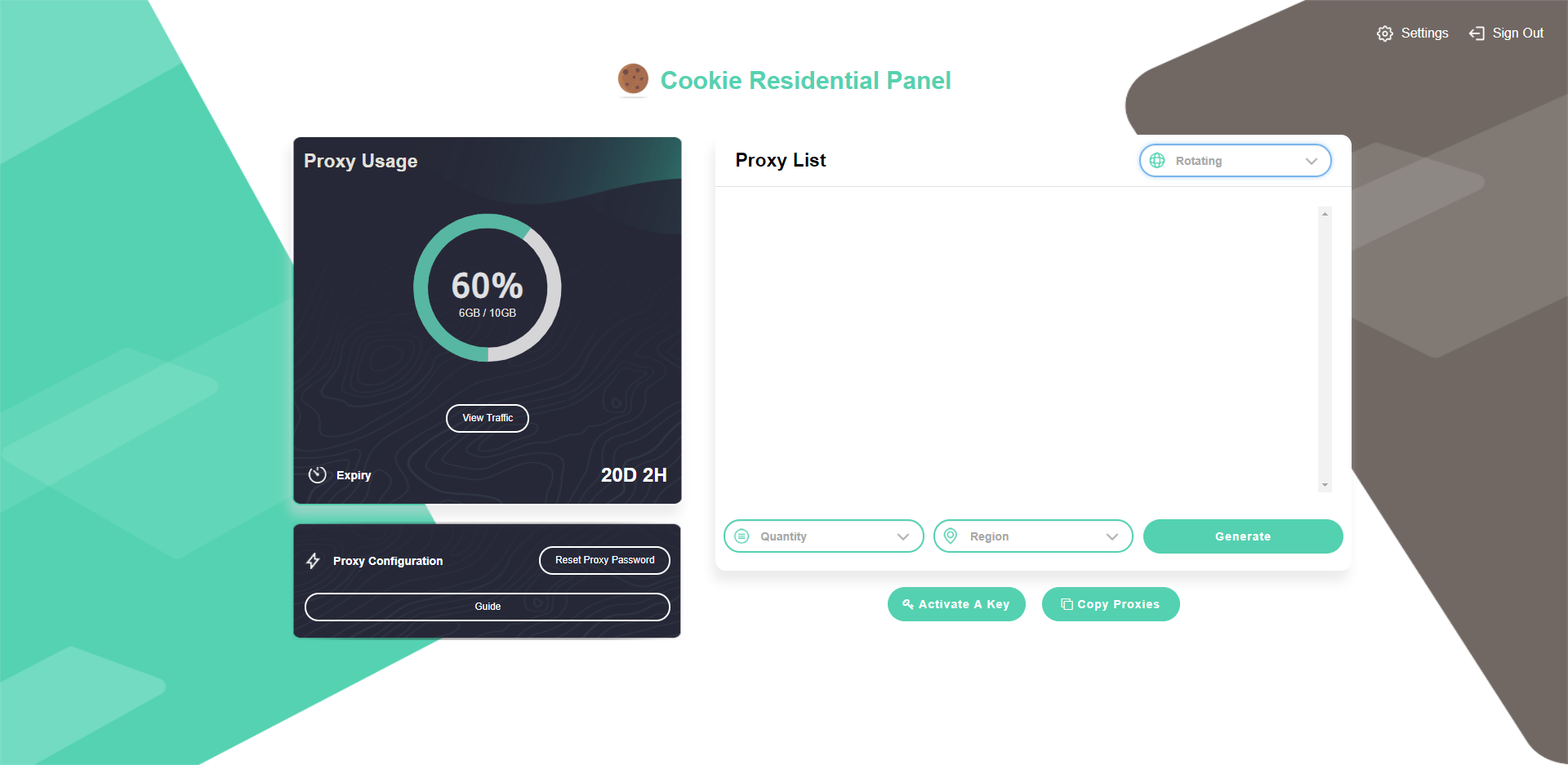 1 GB of Residential Proxies Data Usage 1GB01 — Cookie Proxies