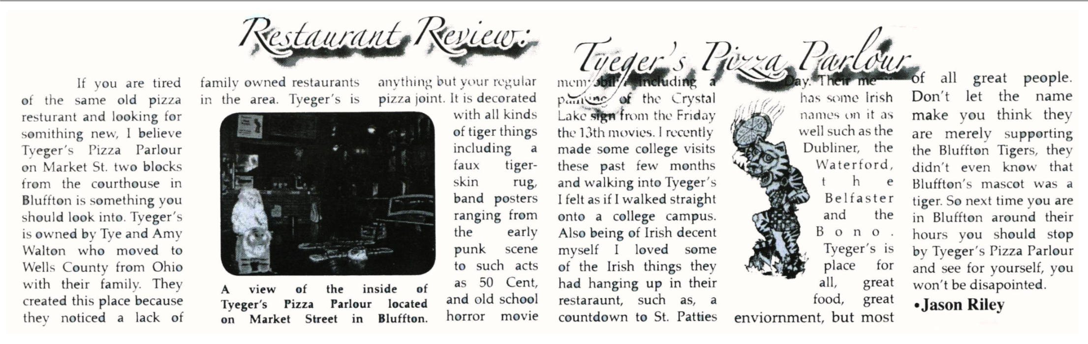 """Southern Wells High School """"The Circular"""" Restaurant Review 