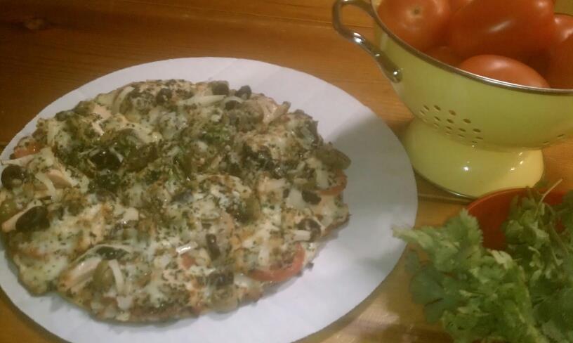 Basil, Mushroom, Onion and Tomato