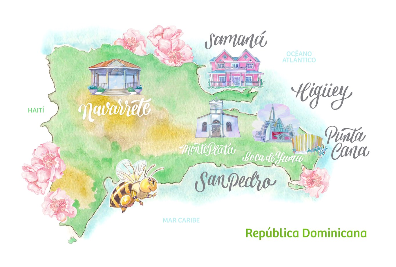 the dominican republic, where the raw infused honey and bees come from