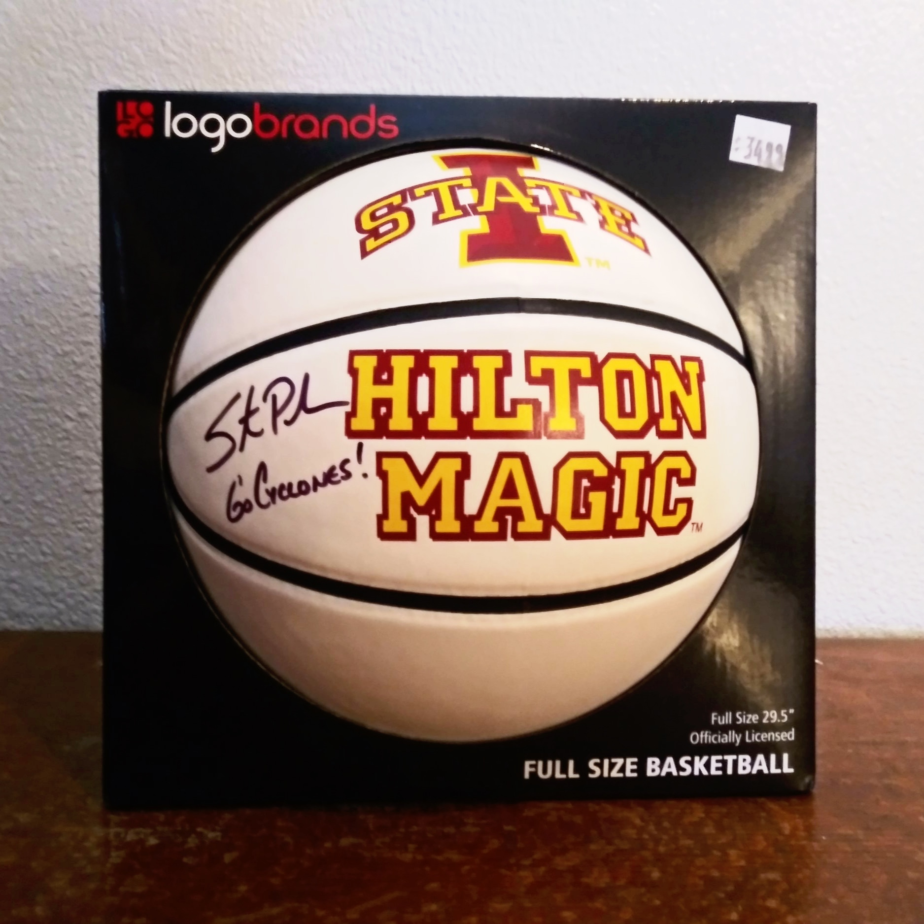 Hilton+Magic+Basketball+signed+by+ISU+Coach+Steve+Prohm