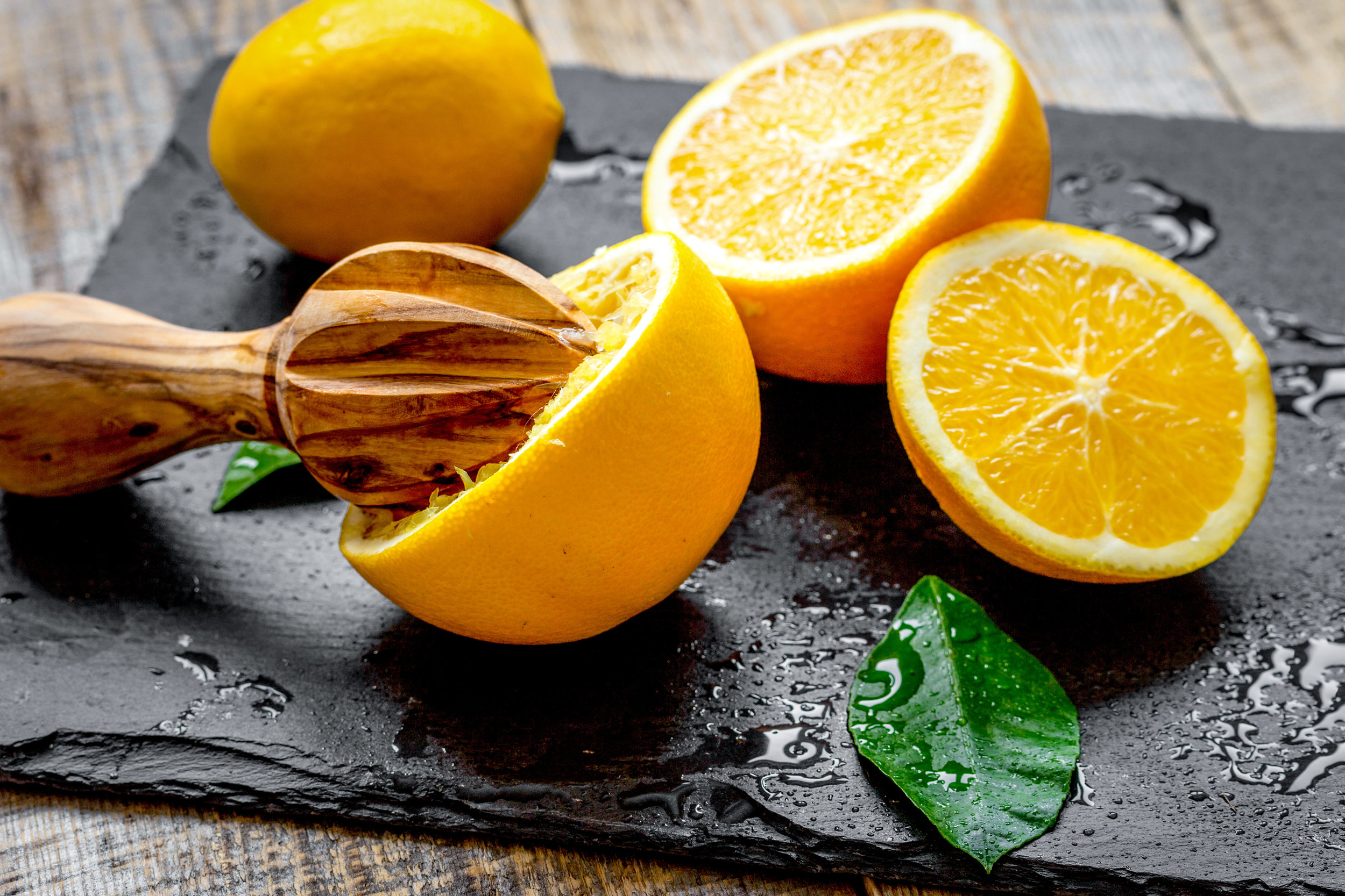 Spritz It! - Use one part juice from lemons, limes, oranges or watermelon to four parts seltzer or sparkling water for a refreshing, reduced calorie drink.