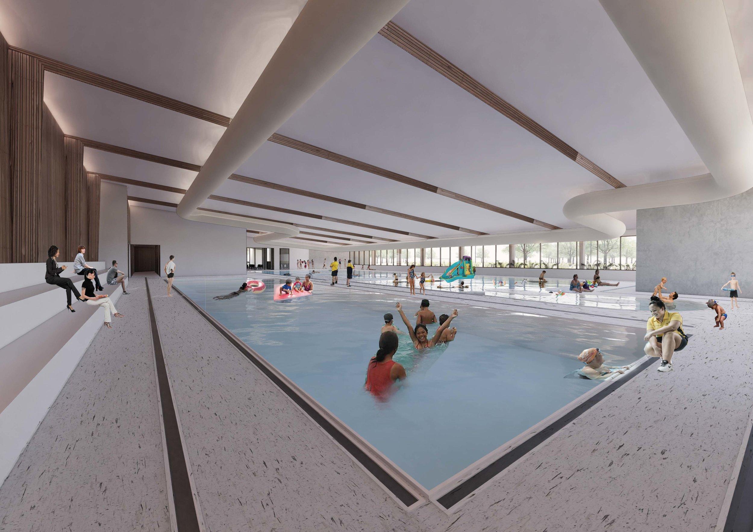 Linwood Woolston Pool - Artists Impression