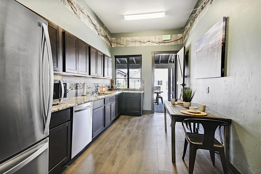 Stonesthrow Apartments Clubhouse Kitchen