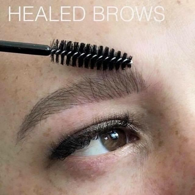 YES! Check out these amazing healed microbladed eyebrows! 😍 Let's get you in for some, check my website in my bio for booking, and see you soon 👋🏼