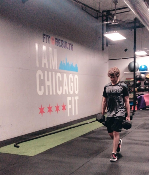Daniil training to be the strongest person he can be.