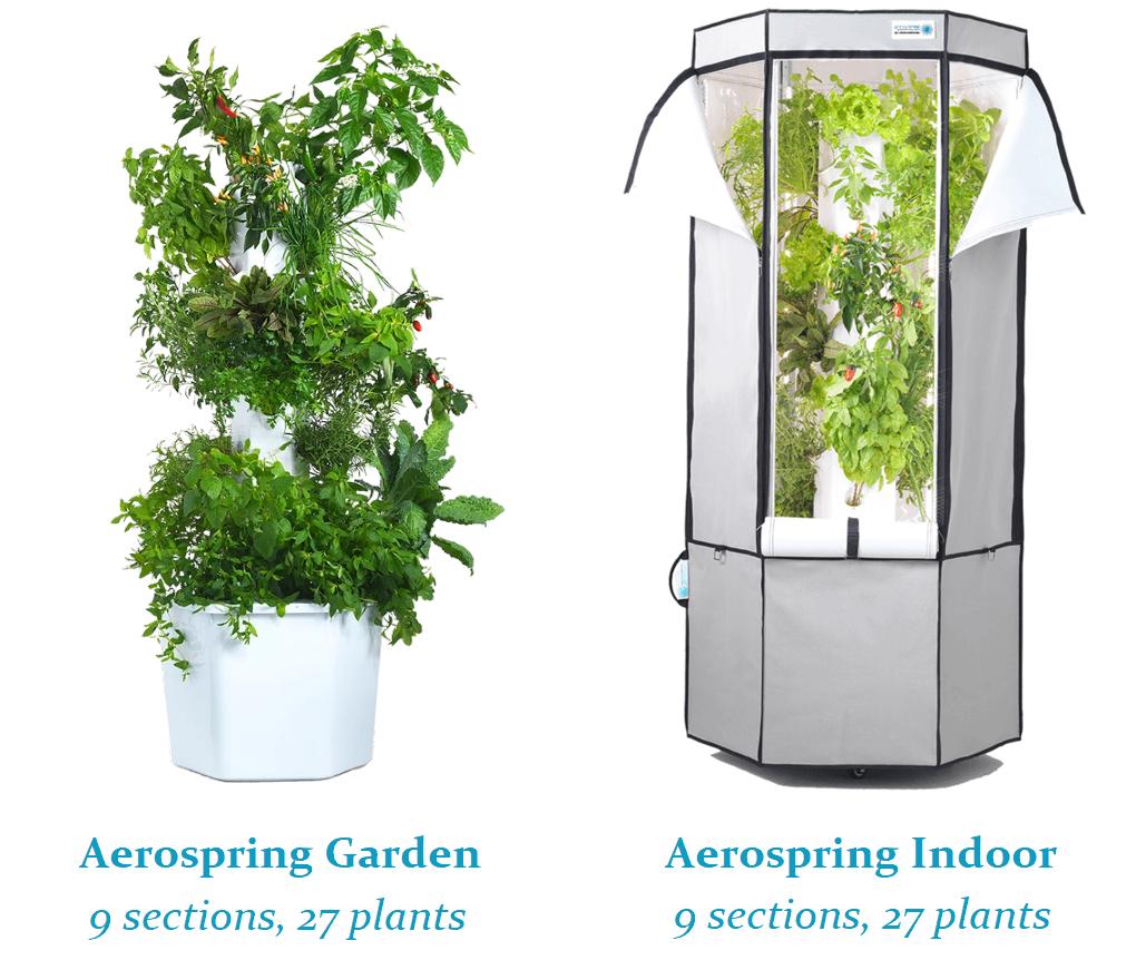 Aerospring Gardens Easily Grow Herbs Veggies With Vertical Hydroponics