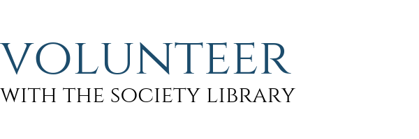 Volunteer - Society Library