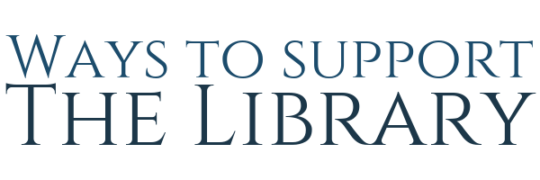 Society Library - Ways to suppor the library