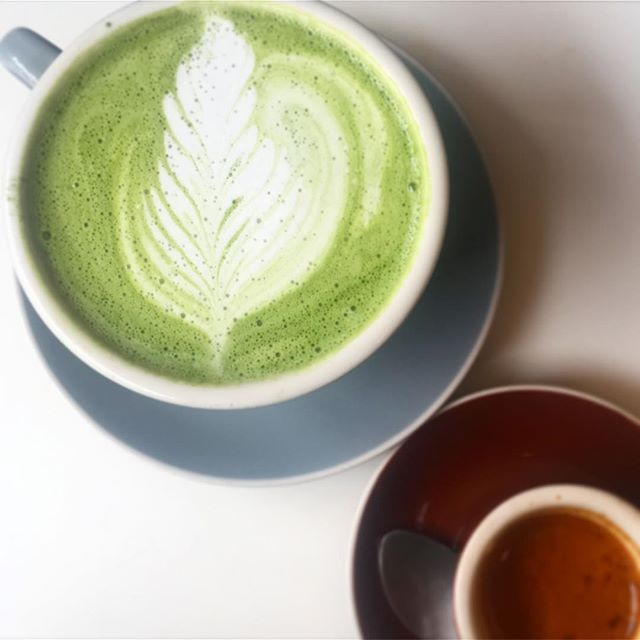 We've been on a serious matcha groove lately. But that doesn't mean we still won't fox with some espresso 🦊